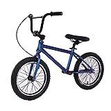 JLXJ Laufräder Lauflernrad Blue Boy Balance Fahrrad mit Hinterradbremse, Kein Pedal Strider...