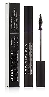 Natural Organic Mascara - Cruelty Free, No Harsh Chemicals - Botanically Enriched - Long Lasting, No Flaking or Smudging - MADE IN USA - Black