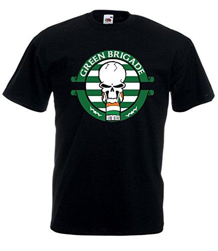 Settantallora - Camiseta - para Hombre Negro XL