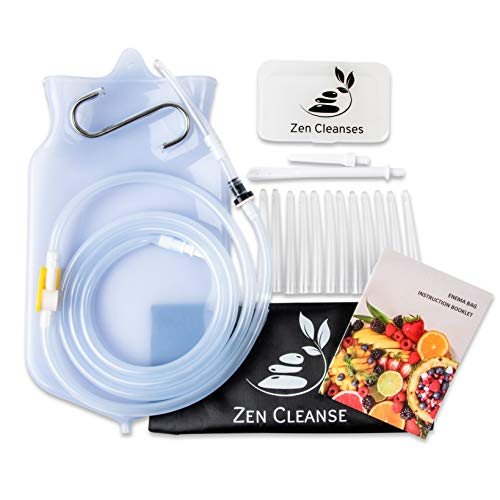 Zen Cleanse Enema Bag Kit – Reusable Home Enema Bag and Accessories