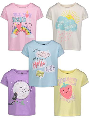 The Beatles Big Girls Lyrics 5 Pack T-Shirts 6/6X