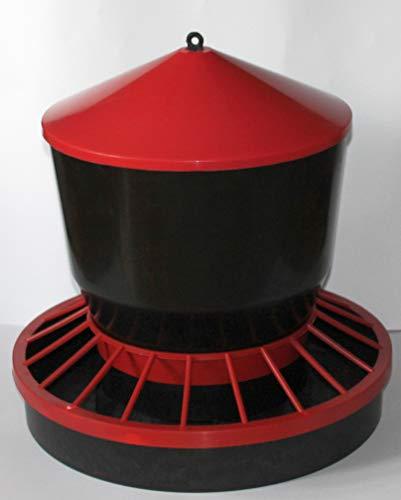 AGROHIT Futterautomat aus Kunststoff für alle Geflügelarten Futtertrog Geflügel-Trog Futtertrog (10kg)