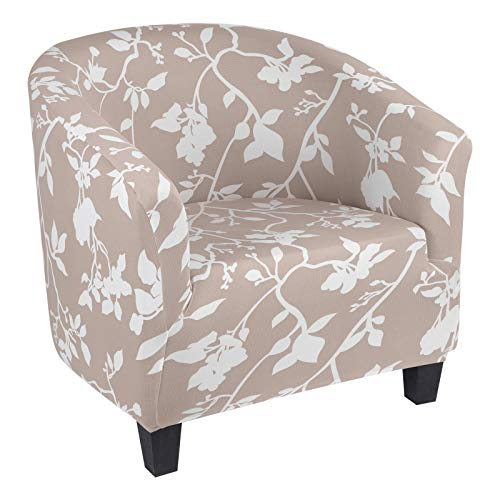 NIBESSER Sesselschoner Sesselüberwurf Sesselhusse Sesselbezug Blumen Muster Elastisch Stretch Husse für Cafe Stuhl Sessel (15#)