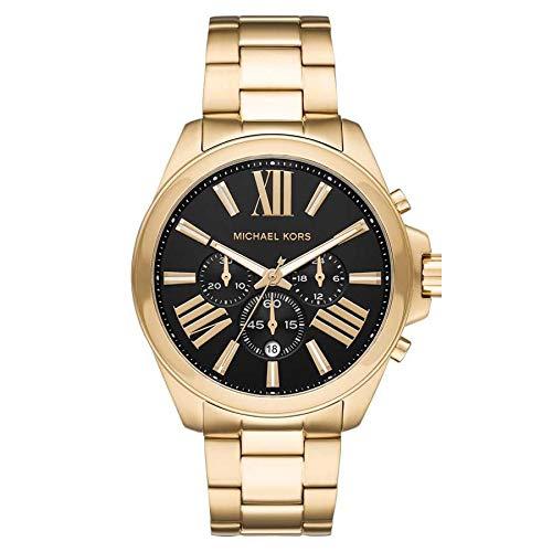 Relógio Michael Kors Feminino Ref: Mk8766/1dn Cronógrafo Dourado