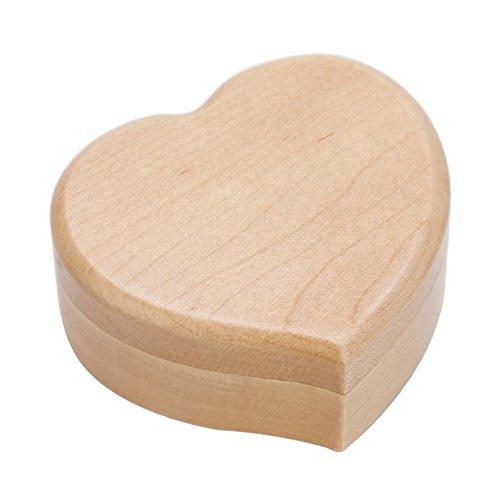 Black Temptation Forme du Coeur Vintage Wood Mechanism Music Box Gift for Christmas Or Birthday