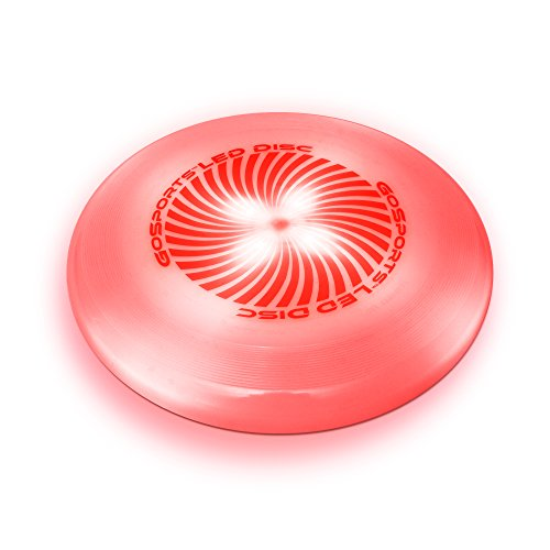 GoSports LED Flying Disc, 175 grams, with 4 LEDs, Red
