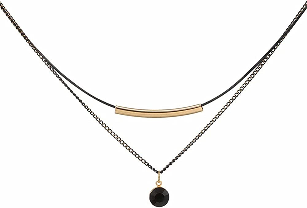 Punk Leather Choker Necklaces, Gothic PU Necklace Adjustable Love Heart Spiked Vintage Black Soft Collar Chain Choker Necklace for Women Girls