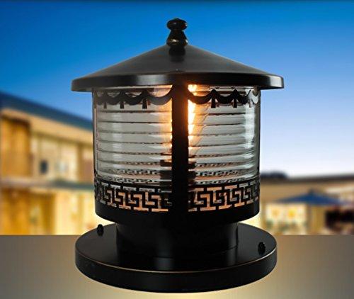 Clôture Stigma Lampe porte Lamp Post Lamp Continental Villa Accueil Jardin Jardin Lumières extérieures étanches