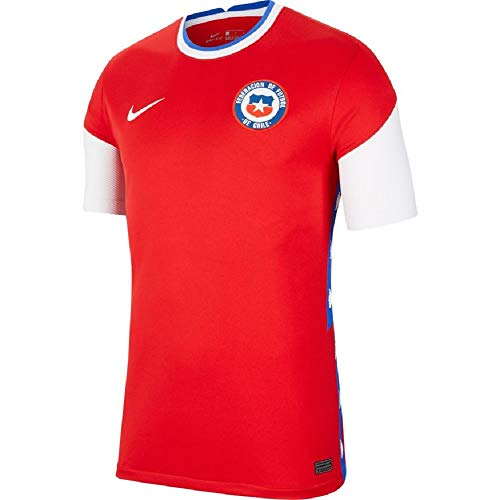 Nike 2020-2021 Chile Home Football Soccer T-Shirt Jersey
