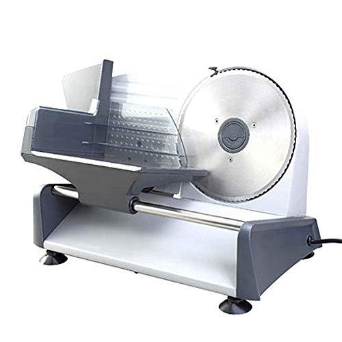Robot à viande, couteau universel en acier inoxydable pour trancheuse électrique haut de gamme, pour divers aliments tels que viande, pain, légumes, jambon, fromage, etc. Régulation en continu (épai