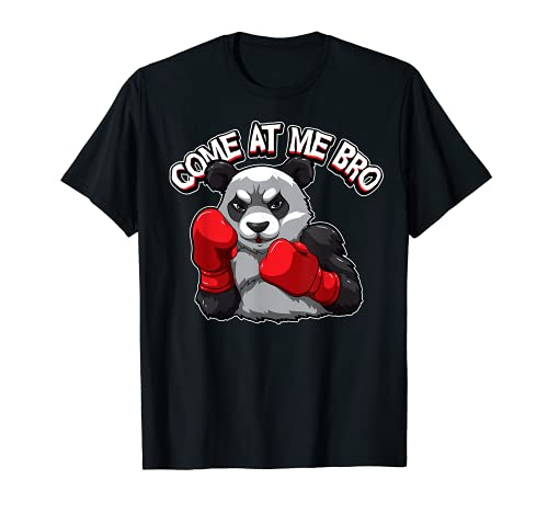 Hombre Boxeo Animal Funny Panda Come At Me Bro Boxer Deportes Humor Camiseta