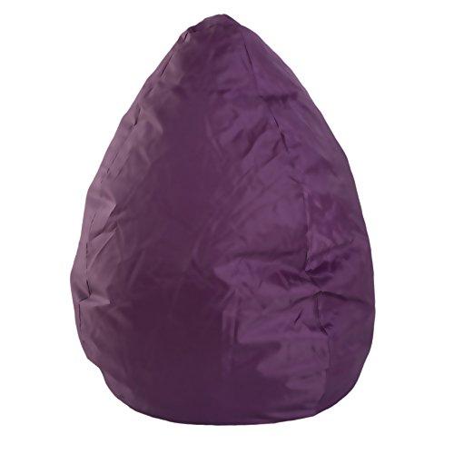 Meubels Rebecca Puff in peervorm zitzak violet PVC polystyreen Relax comfort zachte stoel woonkamer (Code RE4631)