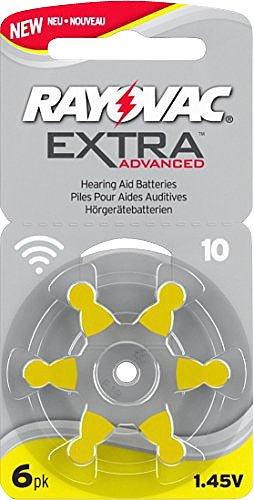 petit un compact Pack de 6 piles pour prothèses auditives Rayovac 10 Extra Advanced 1.45V 105mAh