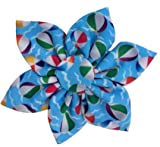 Huxley & Kent Pinwheel | Pool Party (Large) | Summer Pet Collar Attachment Accessory | Fun Pinwheels for Dogs/Cats | Cute, Comfortable and Durable
