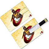 Unidades USB Flash Thumb Drives LeBron Los Angeles Basketball Player 23 Forma de tarjeta de crédito King James Lakers Super Star Rebound Make The Basket U Disk Memory Stick Storage Cleveland Miami Cav
