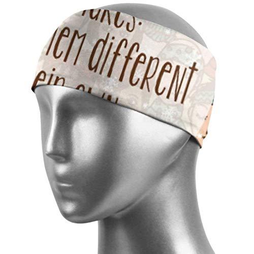 Verctor Bandeaux de Filles pour Les Filles Funny People Snowflake Workout Headband Unisex