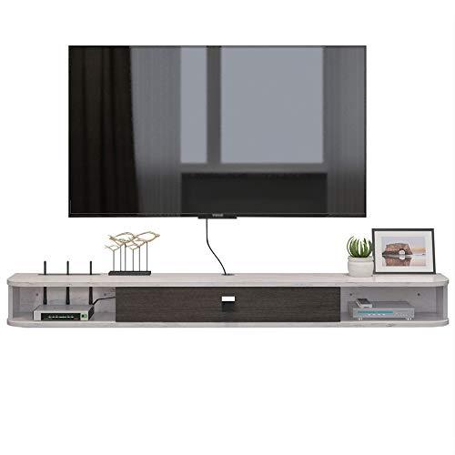 Brooke shop Mueble de TV flotante, mueble de TV montado en la pared con particiones flotantes, soporte de caja de cable del receptor de estante de entretenimiento, para caja de cable de caj