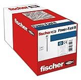fischer 670076 caja de tornillos para madera rosca total 3,5x35, cincado, 3,5x30