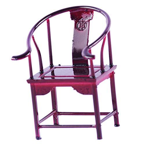 Baoblaze Antike Chinesische Puppenstuhl Stuhl Stühle Miniatur Möbel für 1/25 Puppenhaus