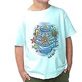 DelSol - Kids Crew tee - Sea Adventure - Camiseta Que Cambia de Color - Cambios en la luz Solar - Se transforma de Blanco a Colores Brillantes - 2T - 1 Pc