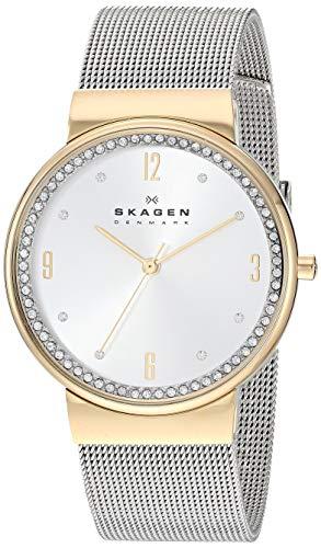 Skagen Women's Ancher Quartz Watch with Stainless Steel Strap, Silver, 18 (Model: SKW2128)