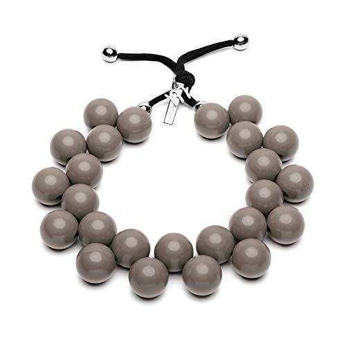 BallsMania Elastische Halskette, Farbe Kordel, Idea, Halskette für Damen, Schmuck für Damen, Modeschmuck, 100% Made in Italy