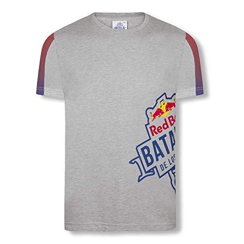Red Bull Batalla Transverse Camiseta, Gris Hombre X-Large Top, Batalla de los Gallos Hip Hop Freestyle Original Ropa & Accesorios