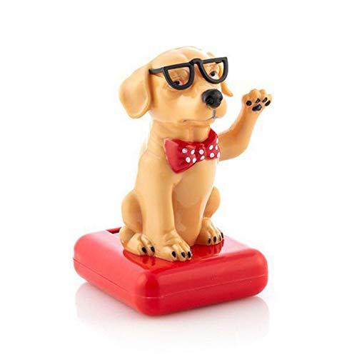 Solarfigur Wackelfigur »Hund mit Sonnenbrille« Figur beweglich Solarbetrieben 11 cm
