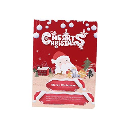 Christmas 3D Stereo Greeting Card AR Virtual Imaging Technology Creative Gifts for Thanksgiving Christmas Anniversary 6 Pcs