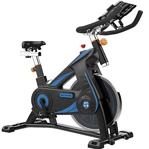 YLJYJ Bicicleta estática Bicicleta de Ciclismo Interior estacionaria con transmisión por Correa de Volante de 22 LBS para Entrenamiento Cardiovascular en casa
