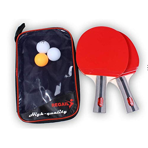 Great Deal! ATYMD Handshake Grip/Pen-Holding Style Table Tennis Bundle, Ping Pong Paddle 2 Player Se...