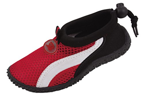 Starbay Toddlers Adjustable Elastic Heel Athletic Water Shoes Red 10