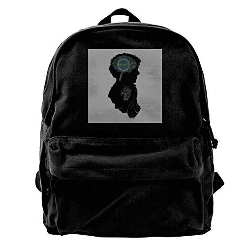 Canvas Rucksack Geist und Herz Sherlock Holmes Mind Palace London Rucksack Gym Wandern Laptop Umhängetasche Daypack für Männer Frauen