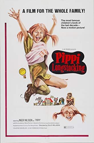 Berkin Arts Filmplakat Giclée-Druck Auf Leinwand-Filmplakat Reproduktion Wanddekor(Pippi Langstrumpf 2) #XFB