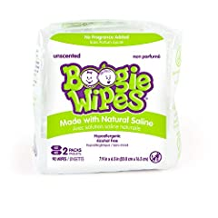 GENTLE SALINE WIPES: Boogie Wipes saline nose wipes are wet wipes made with natural saline, which is gentle on skin, helps clean and dissolve snot and boogers, and wipes away dirt and germs They're gentle enough to be used on noses, faces, fingers an...