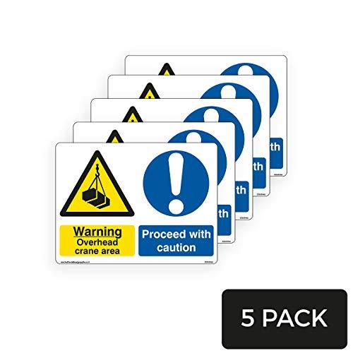 Señal de Advertencia sobre grulla, Texto en inglés «Overhead Crane» [1,5 mm,...