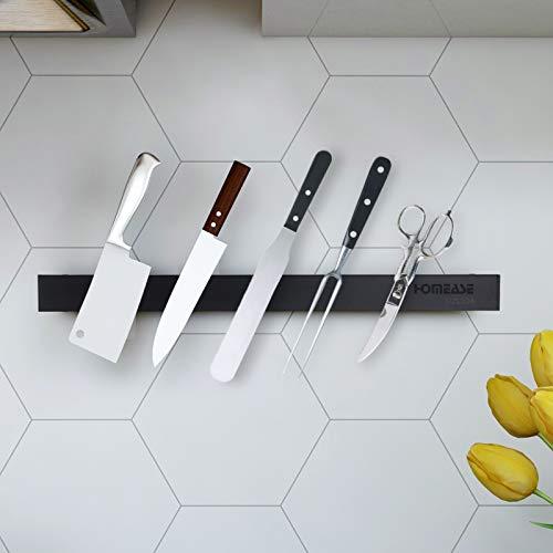 Homease Magnetleiste Messer, 40 cm Magnetischer Messerhalter Selbstklebend Edelstahl, ohne Bohren, Aufbewahrung von Küchenmessern und Küchenutensilien, Starke Magnetkraft, fällt Nicht