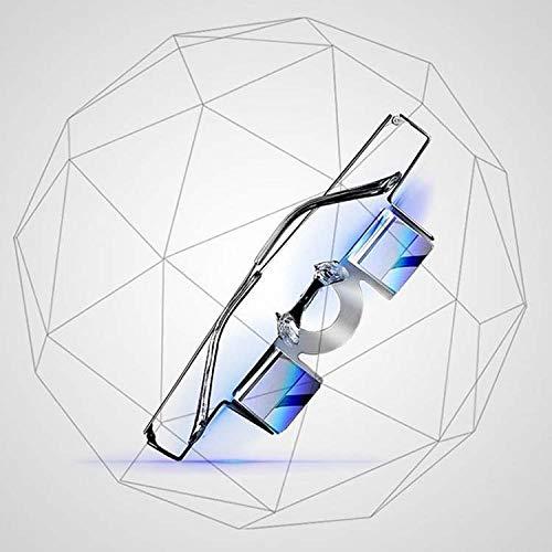 LJXiioo Gafas de Prisma, Gafas perezosas Gafas horizontales Que se acuestan para Leer/Mirar televisión