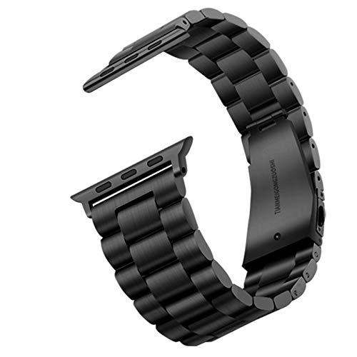 Correa de reloj de acero inoxidable Carouse para Apple Watch Band Series SE / 6/5/4/3/2/1 38mm 42mm Correa deportiva de metal para iWatch 40mm 44mm