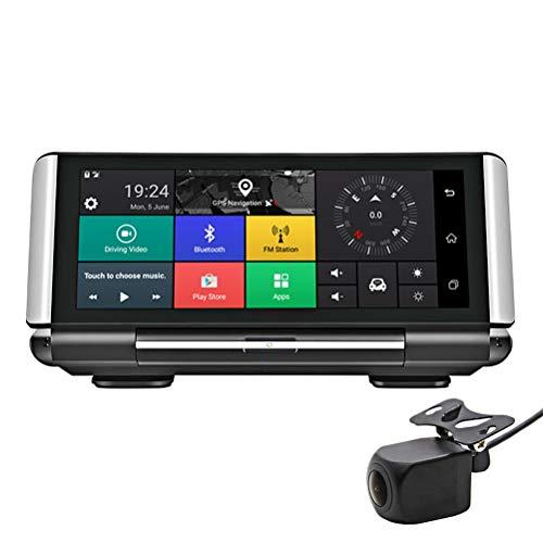 Flashing 7'4G Coche Dash Camera Android GPS Nav FHD 1080P Car Video Recorder Night Vision WiFi Dual CAM con Imagen inversa (Color : 32G, Size : 3G)