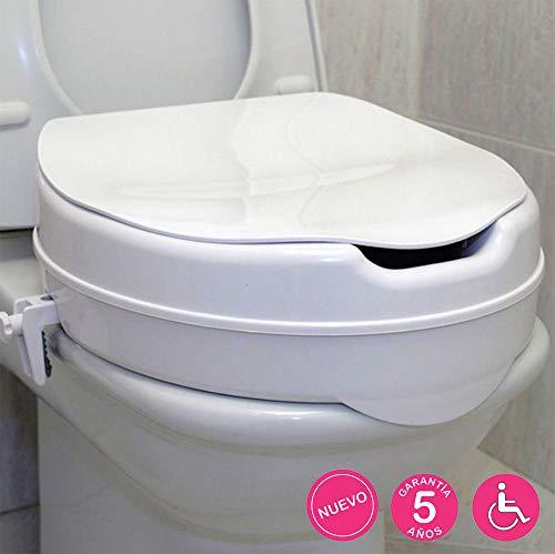 Kibath 143834 toiletbrilverhoger, wit, incl. adapter voor bevestiging aan het toilet en stabiliteit tot 150 kg, glanzend chroom