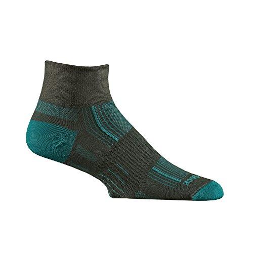 WRIGHTSOCK(ライトソック) STRIDE (ストライド) Quarterタイプ(クォータータイプ)靴擦れ防止 靴ムレ防止 W0005ATS アッシュ&ターコイズ Small (21.5~23.0cm)
