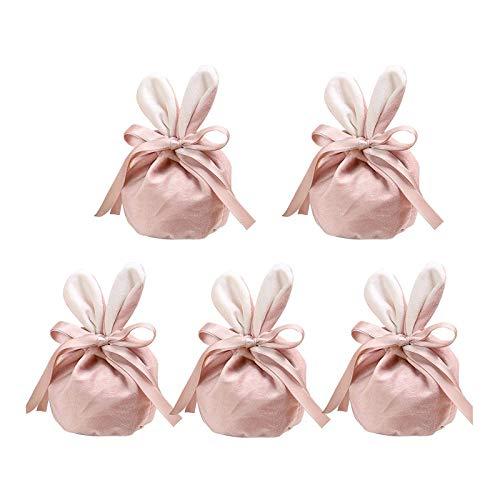 LEERAIN Osterei Hunt Bunny Bags Samt Snacktasche Party Keks Verpackung Tasche Ostern Cartoon Geschenk Tasche Baumwolle Kaninchen Handtasche