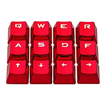 PBT Keycaps Electroplated Metal Gaming Key Caps for Keyboards Mechanical