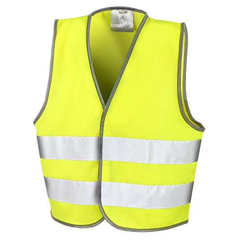 Result- Chaleco de Seguridad Reflectante Unisex para niños (10-12 años) (Amarillo Fluorescente)