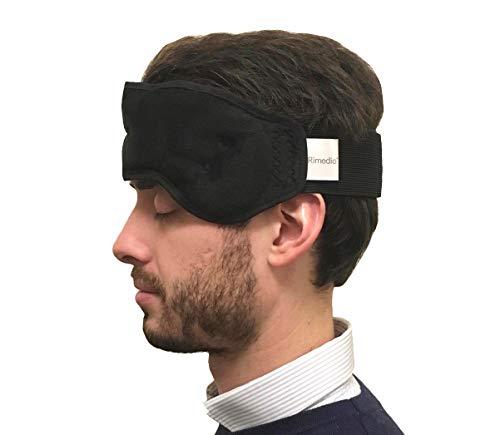 Rimedio - Migränmask för naturlig smärtlindring: huvudvärk/sinus/migrän/ögonspänning med kall och varm termisk teknik