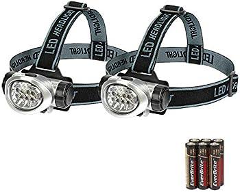 2-Pack EverBrite Headlamp Flashlight