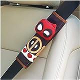 GAOJIAN Almohadillas para Cinturón de Seguridad Cubierta del cinturón de Seguridad del automóvil Hombrera extendida para Coche Suministros Generales para vehículos Seat Belt Pads Deadpool