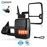 ECCPP Towing Mirrors High perfromance Automotive Exterior Mirrors with Power Heated Turn Signal Replacement fit for 2003-2007 Silverado Sierra for Chevy gmc 1500 2500 3500(07 New Body Style)