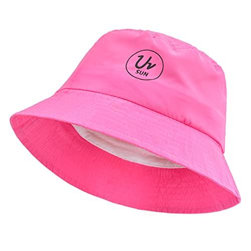 MFAZ Morefaz Ltd Bucket Hut Jungen Mädchen Mütze Kappe Kinder UV UPF 50+ Sonnenschutz (Pink)